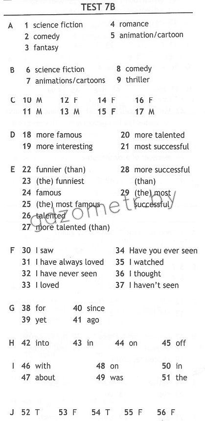 Test 5 гдз класс английскому booklet по